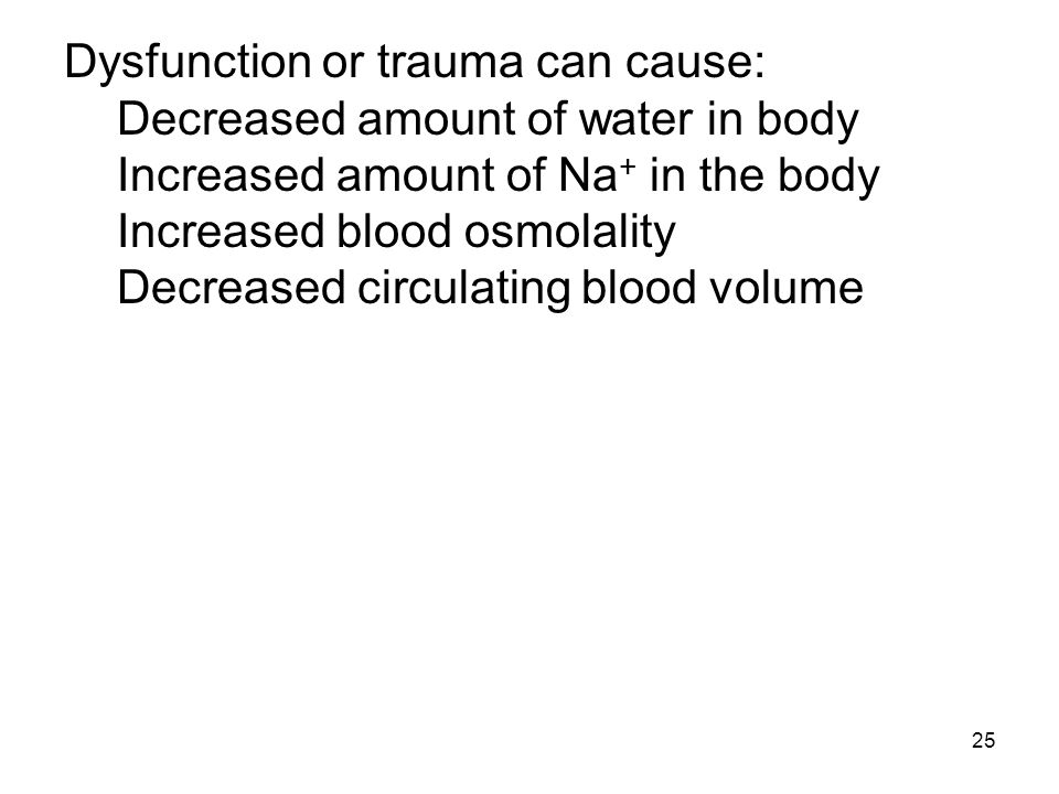 Dysfunction or trauma can cause: