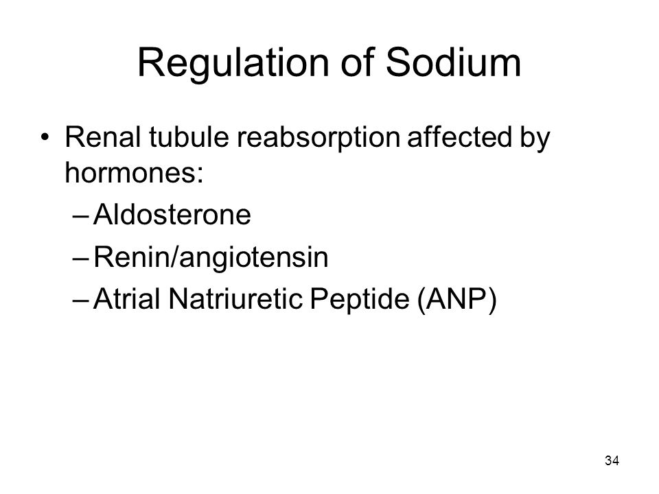 Regulation of Sodium Renal tubule reabsorption affected by hormones: