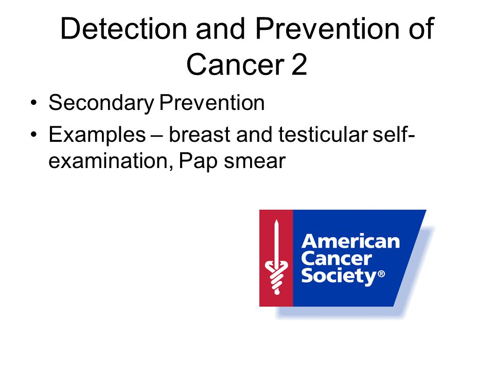 Detection and Prevention of Cancer 2