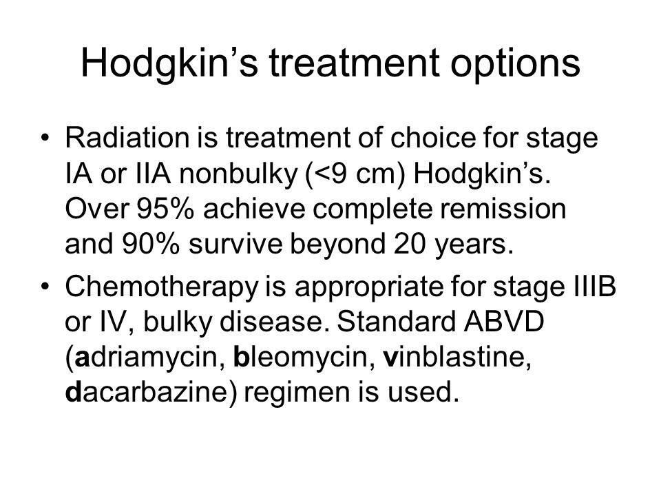 Hodgkin's treatment options