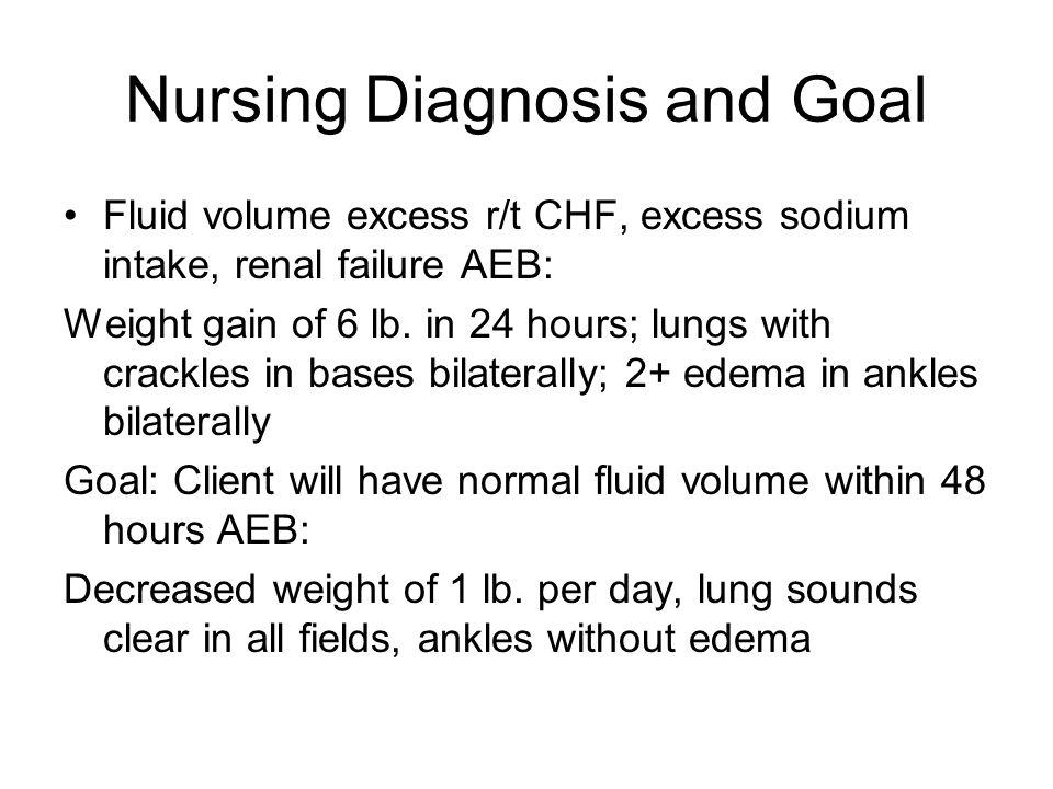 Nursing Diagnosis and Goal
