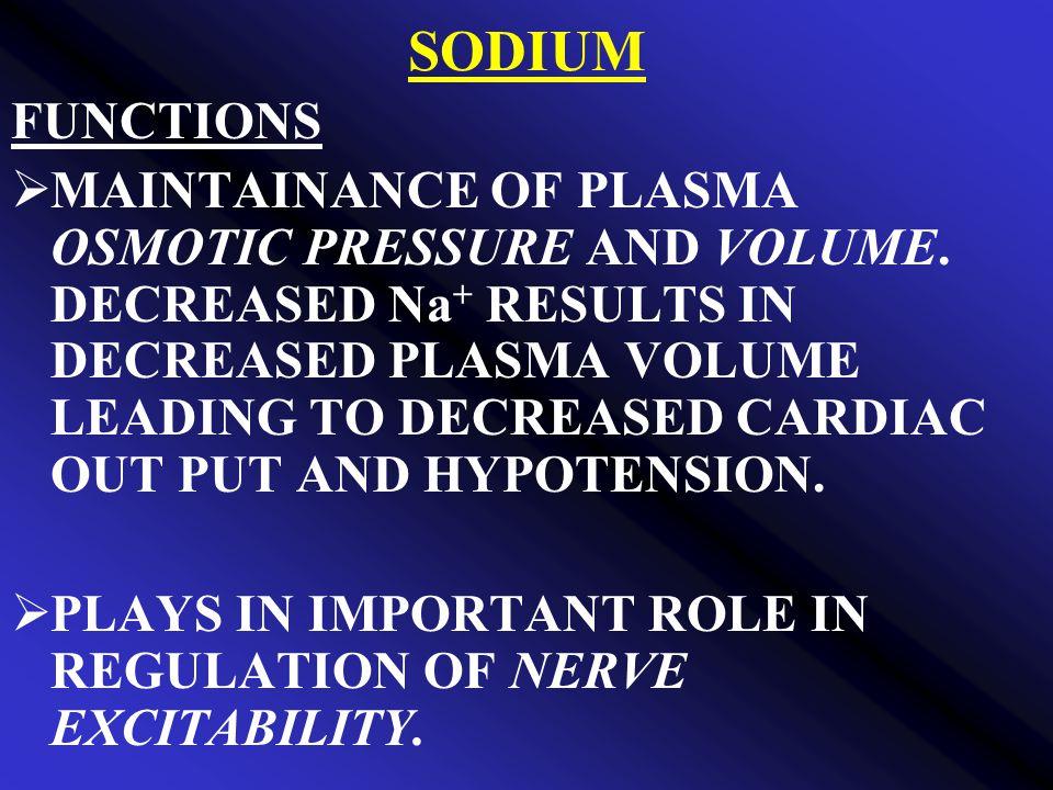 SODIUM FUNCTIONS.