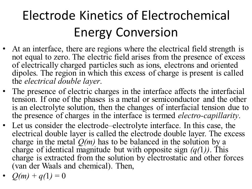Electrode Kinetics of Electrochemical Energy Conversion