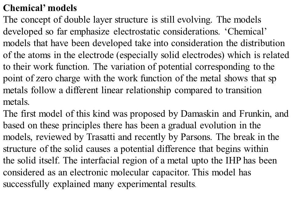 Chemical' models