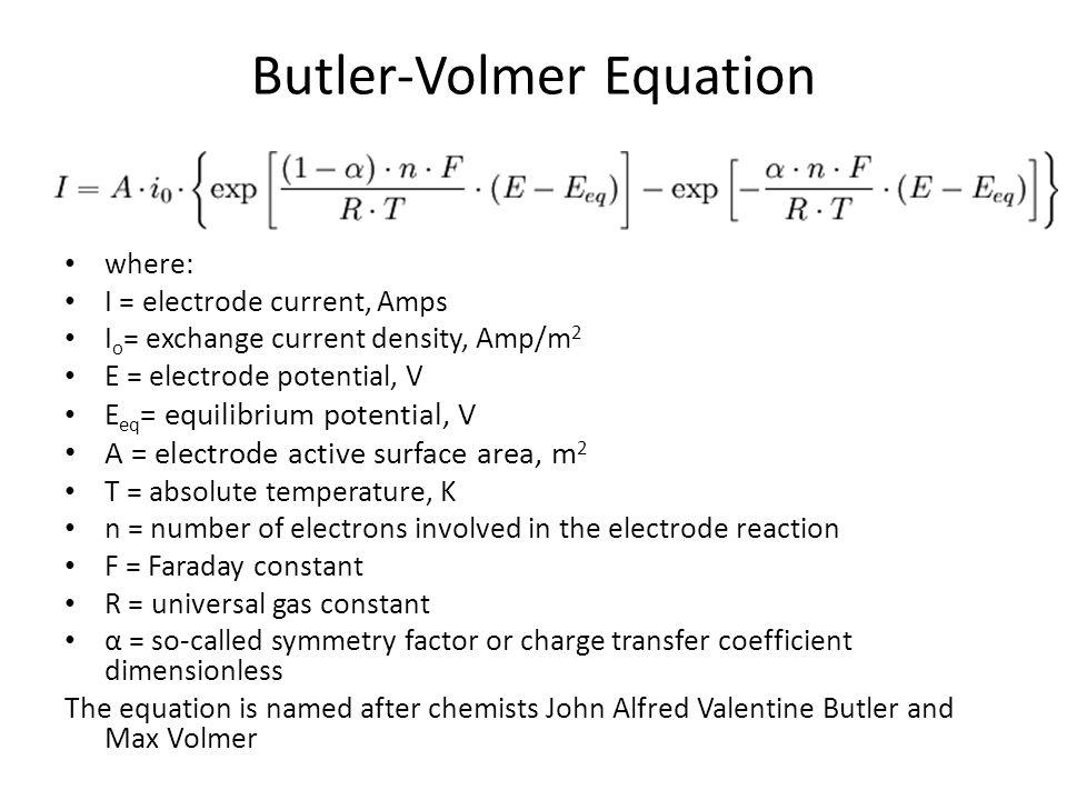 Butler-Volmer Equation