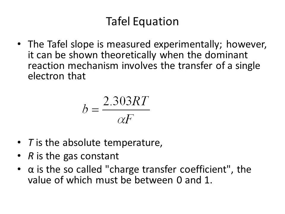 Tafel Equation