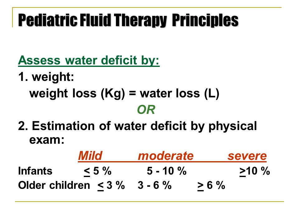 Pediatric Fluid Therapy Principles