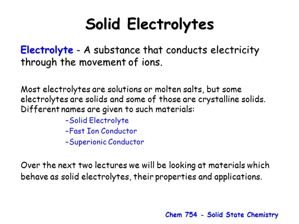 Chem 754 - Solid State Chemistry