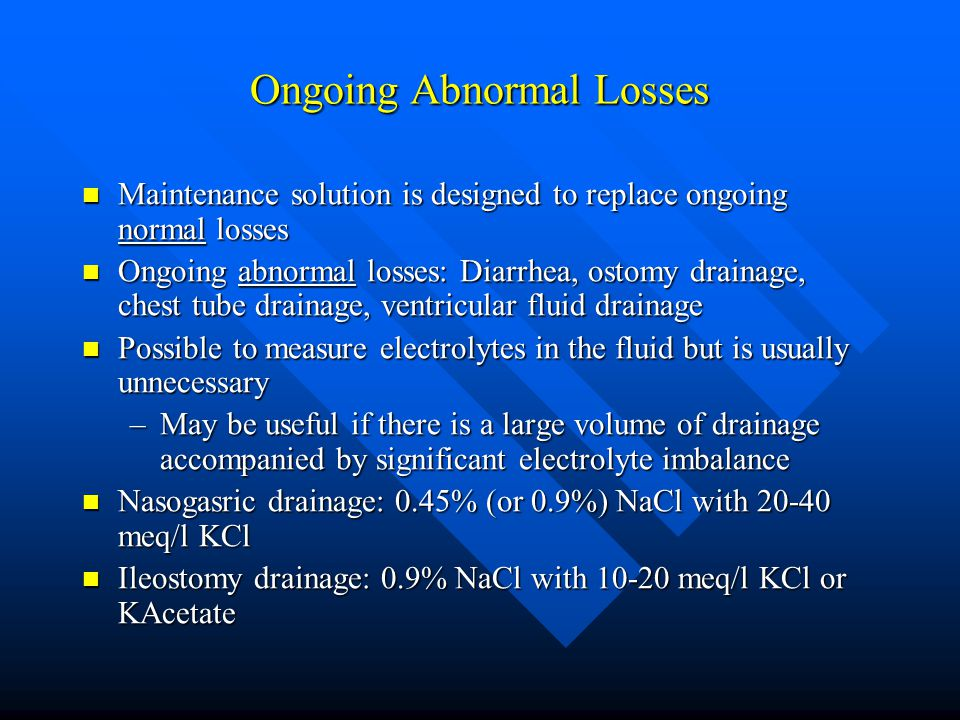 Ongoing Abnormal Losses
