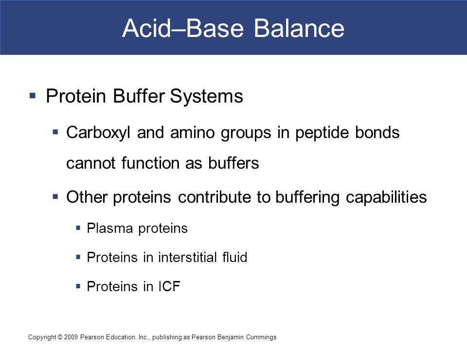 Acid–Base Balance Protein Buffer Systems