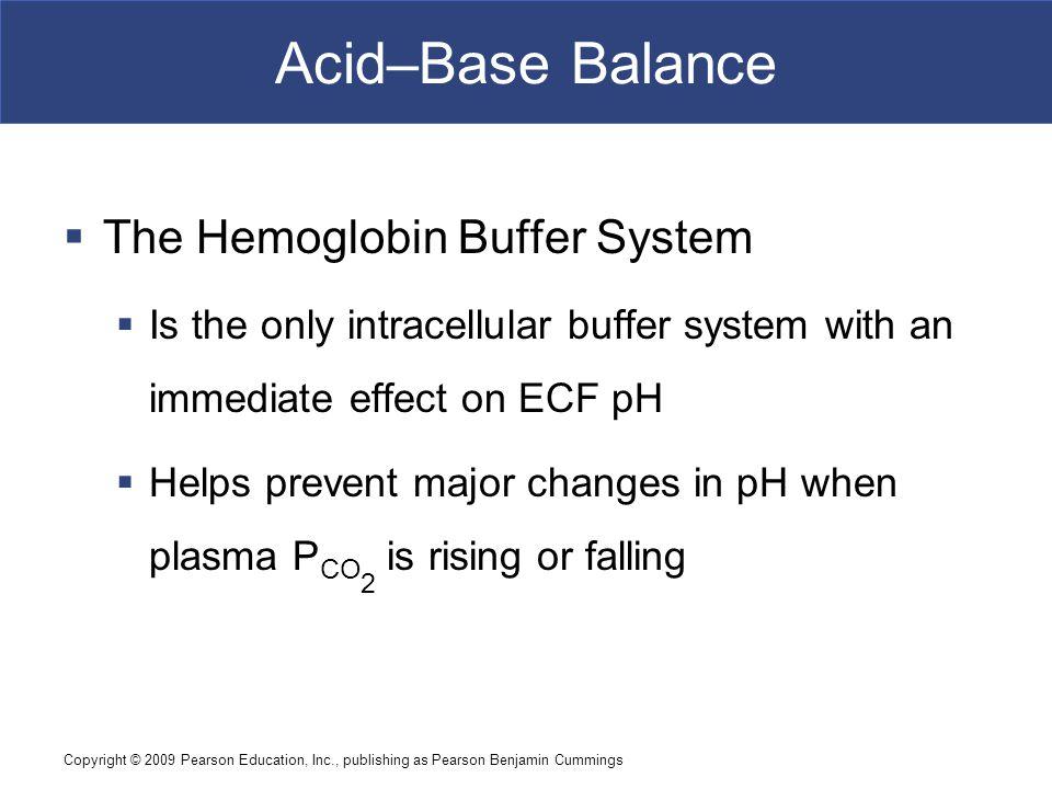 Acid–Base Balance The Hemoglobin Buffer System