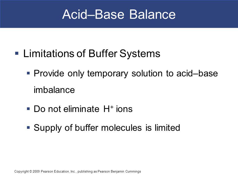 Acid–Base Balance Limitations of Buffer Systems