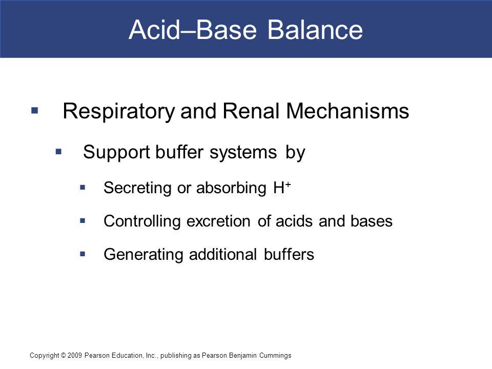 Acid–Base Balance Respiratory and Renal Mechanisms