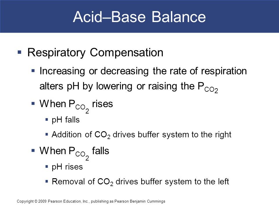 Acid–Base Balance Respiratory Compensation