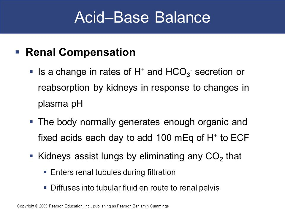 Acid–Base Balance Renal Compensation