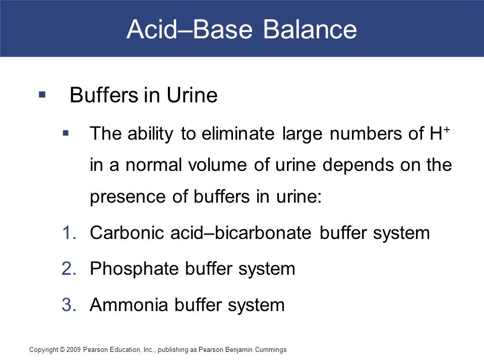Acid–Base Balance Buffers in Urine