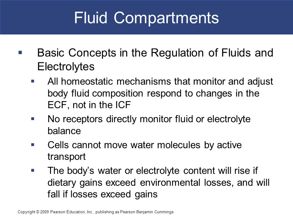 Fluid Compartments Basic Concepts in the Regulation of Fluids and Electrolytes.