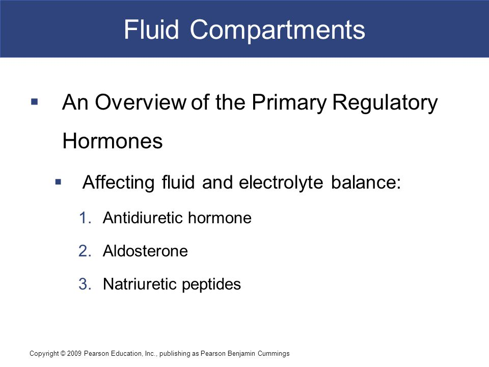 Fluid Compartments An Overview of the Primary Regulatory Hormones