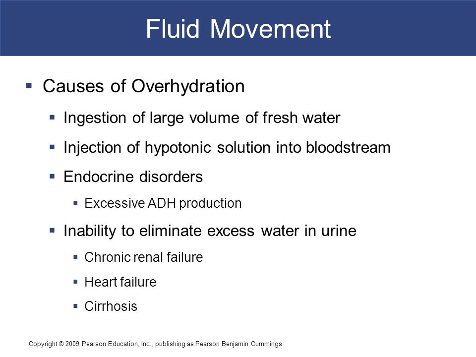 Fluid Movement Causes of Overhydration