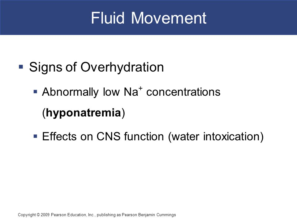 Fluid Movement Signs of Overhydration