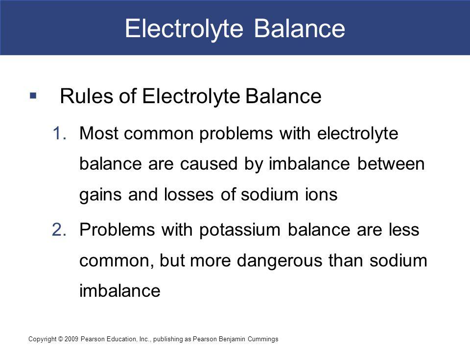 Electrolyte Balance Rules of Electrolyte Balance