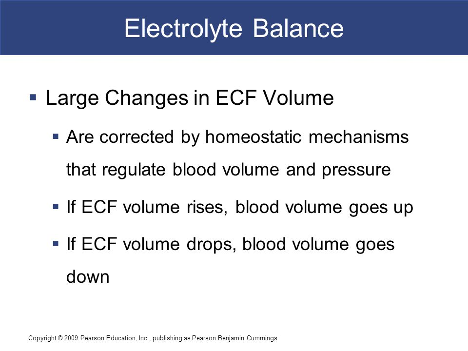 Electrolyte Balance Large Changes in ECF Volume