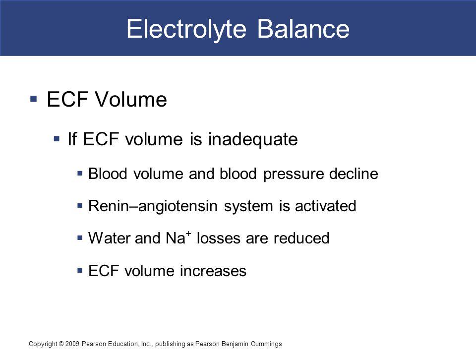 Electrolyte Balance ECF Volume If ECF volume is inadequate