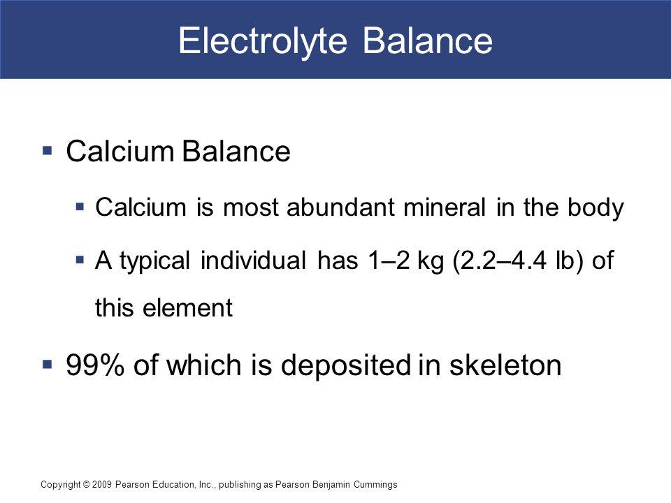 Electrolyte Balance Calcium Balance