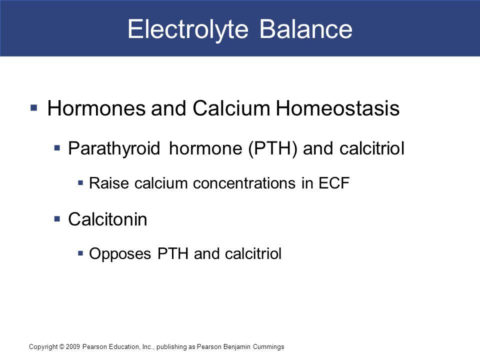 Electrolyte Balance Hormones and Calcium Homeostasis