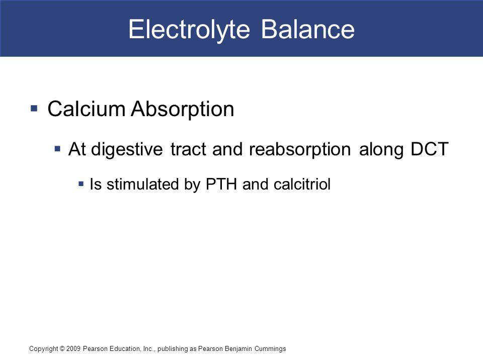 Electrolyte Balance Calcium Absorption