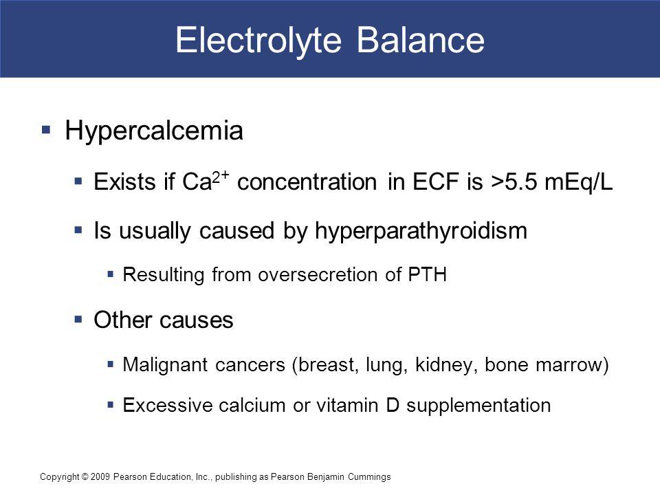 Electrolyte Balance Hypercalcemia