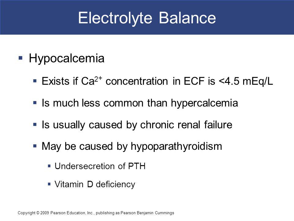 Electrolyte Balance Hypocalcemia