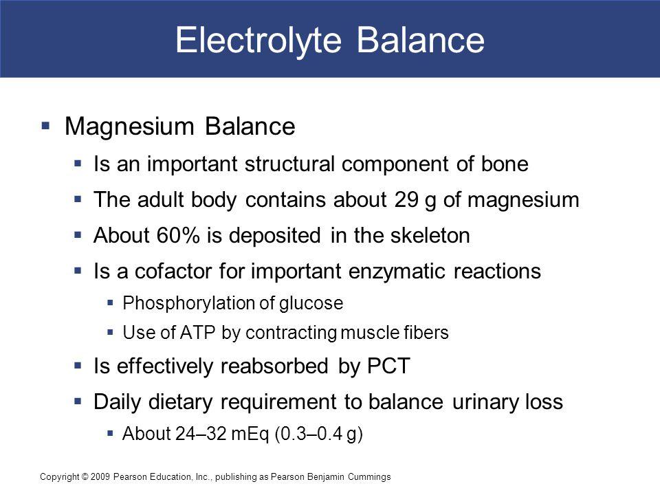 Electrolyte Balance Magnesium Balance