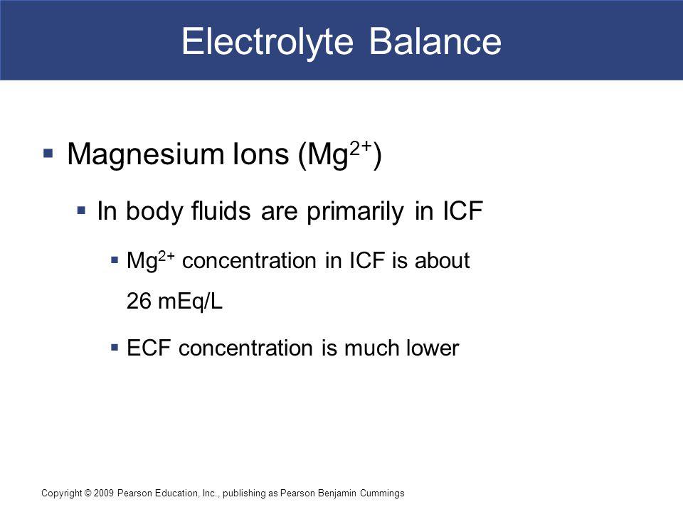 Electrolyte Balance Magnesium Ions (Mg2+)