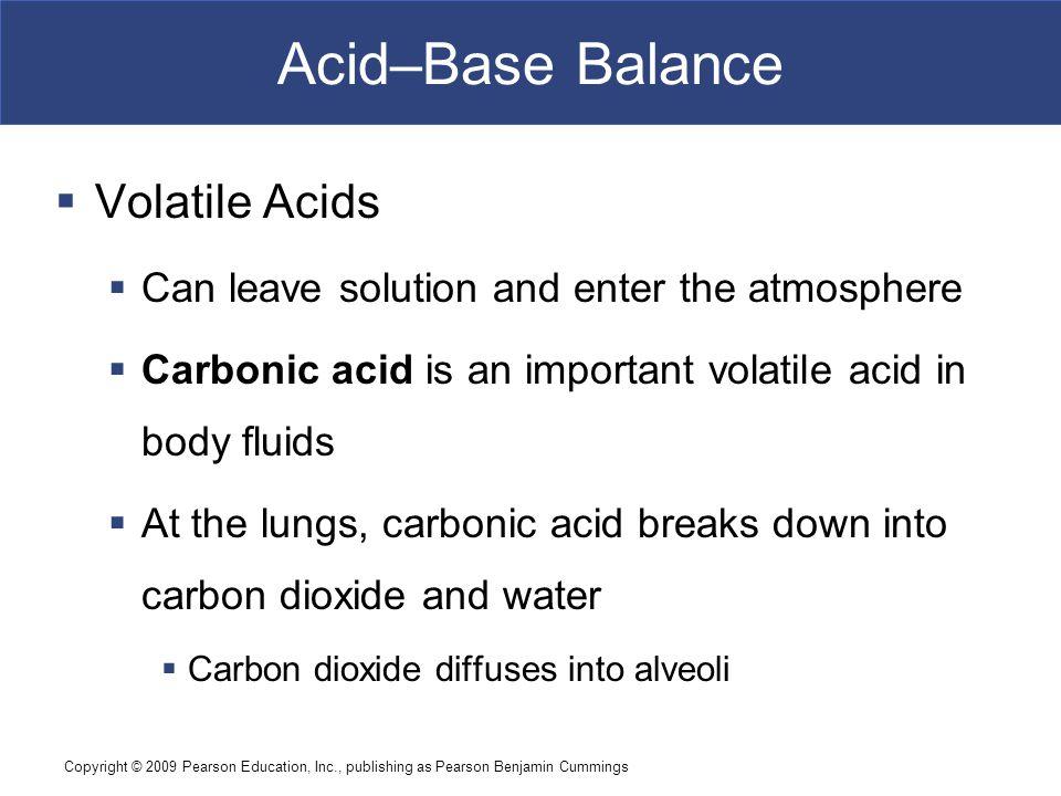Acid–Base Balance Volatile Acids