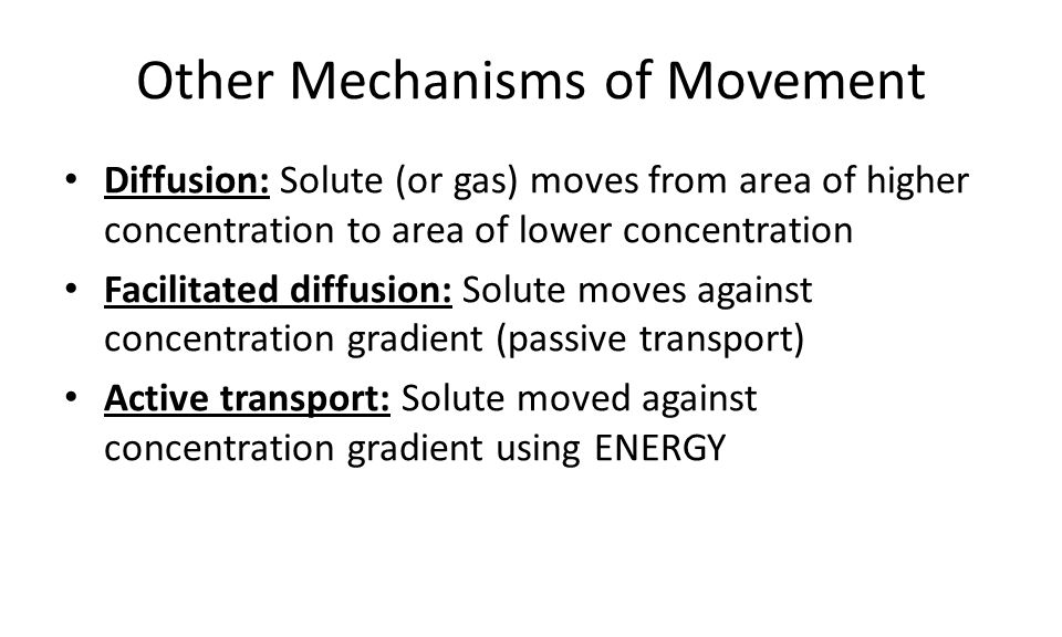 Other Mechanisms of Movement