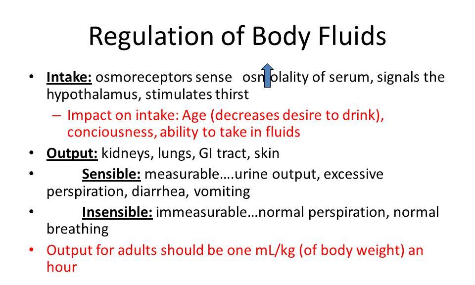 Regulation of Body Fluids
