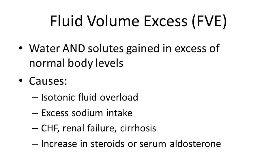 Fluid Volume Excess (FVE)
