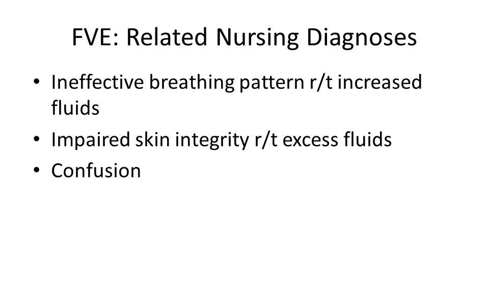 FVE: Related Nursing Diagnoses