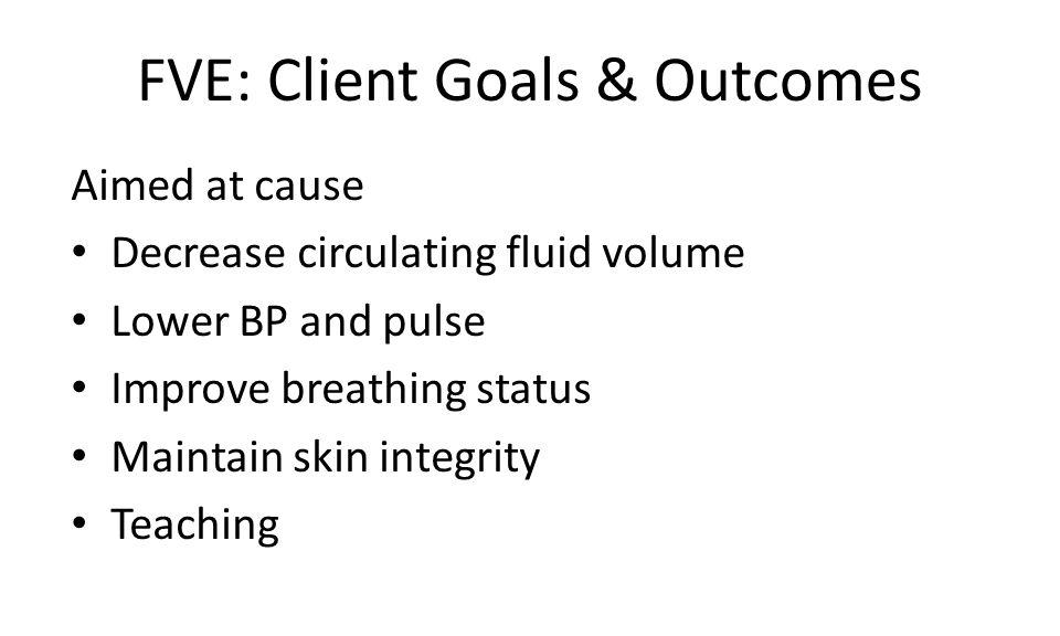 FVE: Client Goals & Outcomes