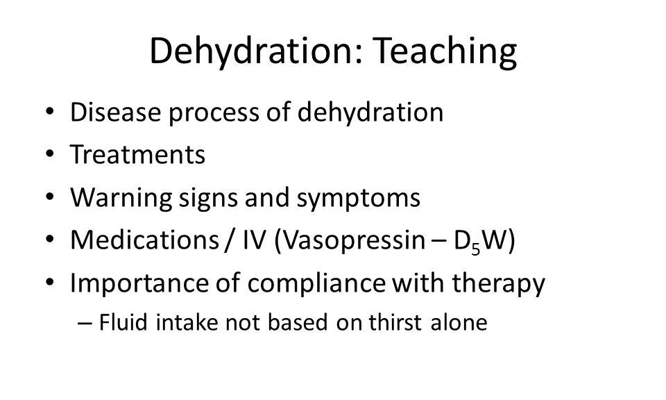 Dehydration: Teaching