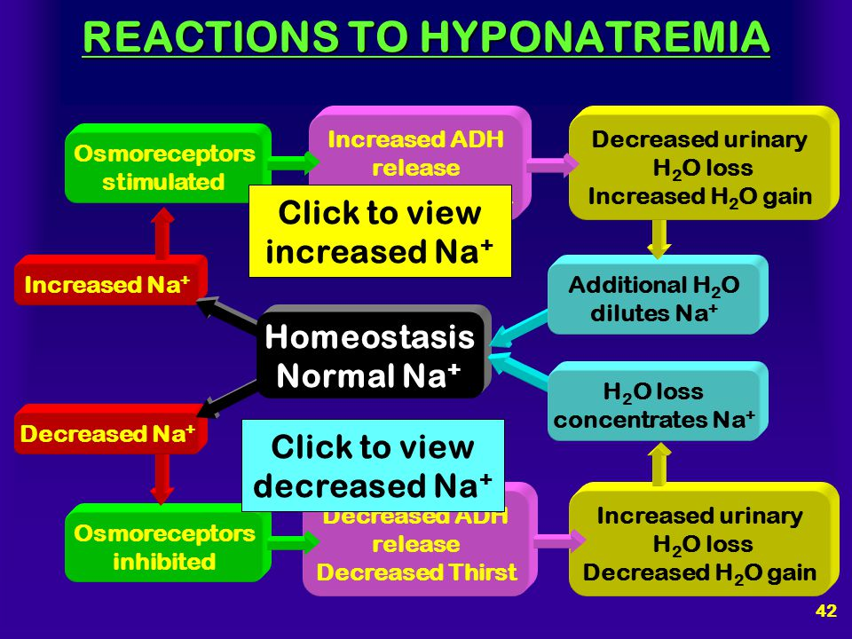 REACTIONS TO HYPONATREMIA