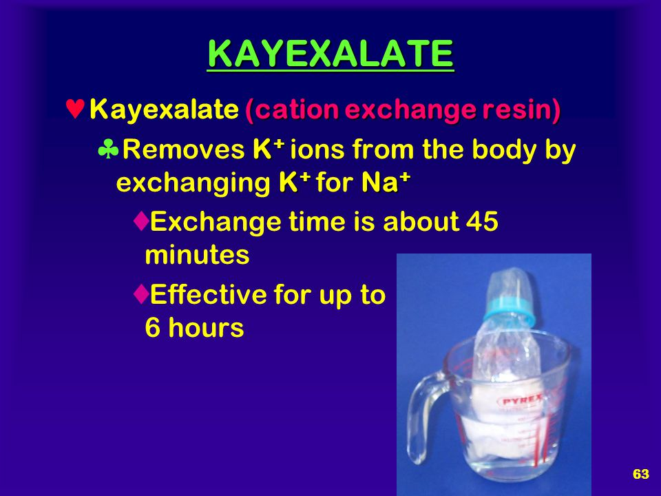KAYEXALATE Kayexalate (cation exchange resin)