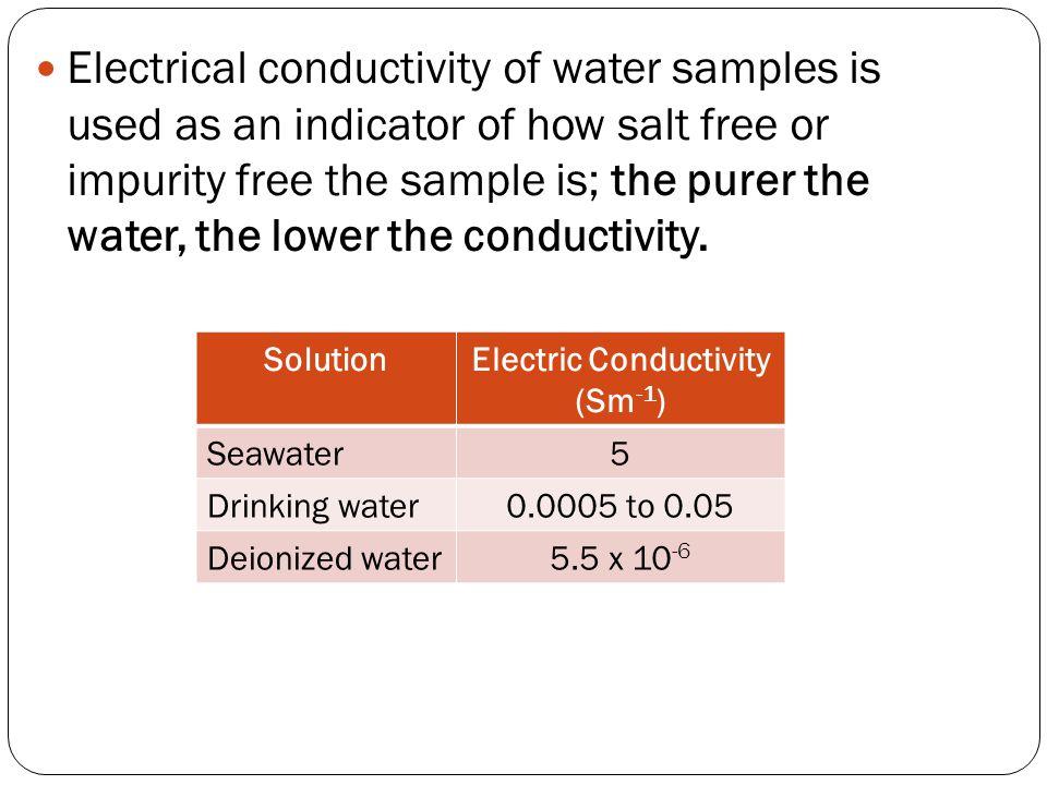 Electric Conductivity