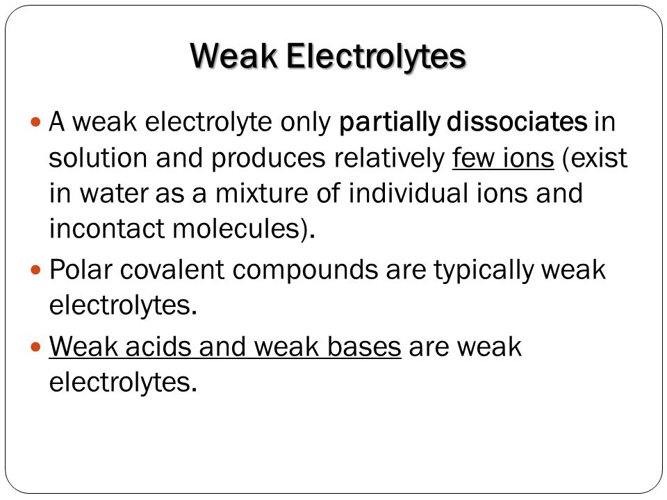 electrical conductivity of electrolytes and non electrolytes 6 differences of electrolyte and non electrolyte solutions and examples s is  essentially in their electrical conductivity, it can also be seen from.