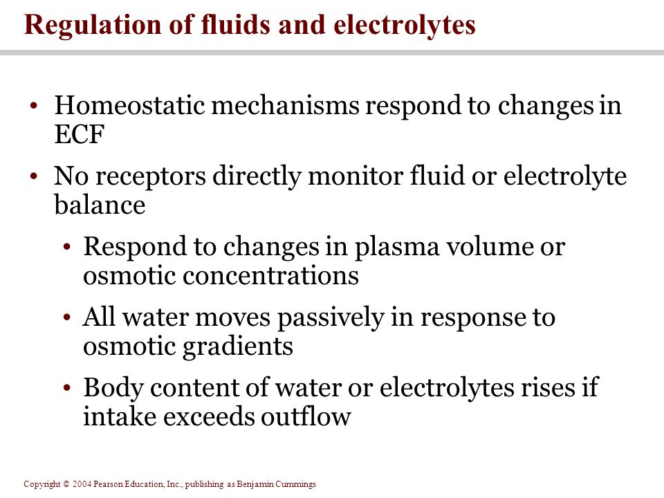 Regulation of fluids and electrolytes