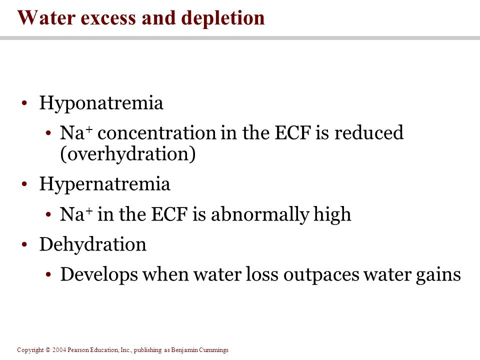 Water excess and depletion