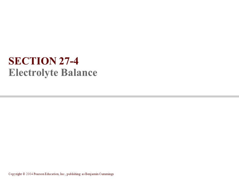 SECTION 27-4 Electrolyte Balance