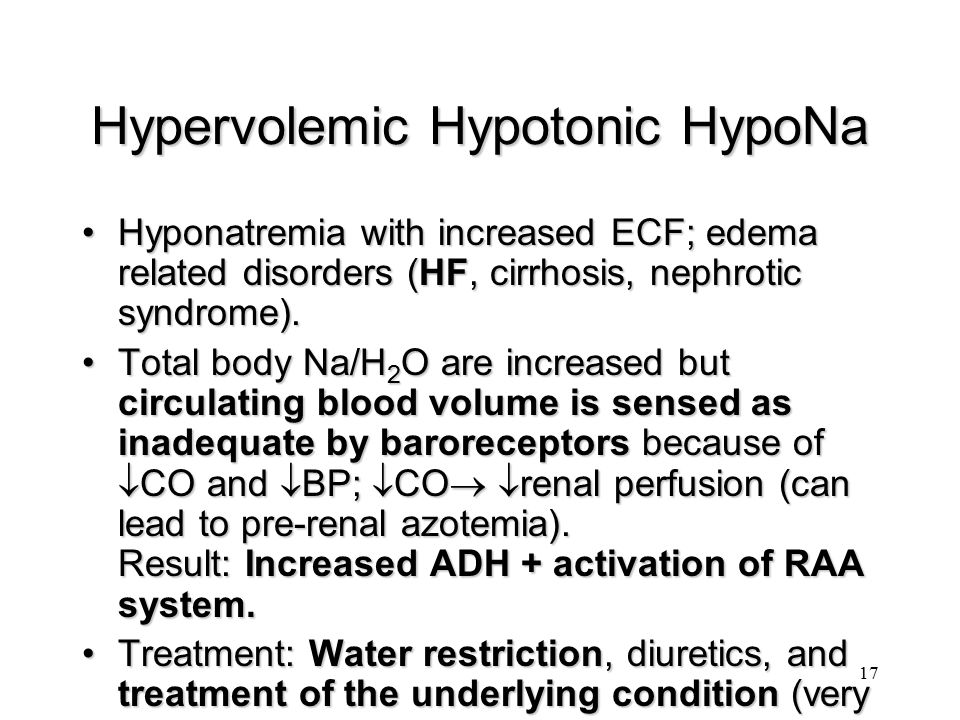 Hypervolemic Hypotonic HypoNa