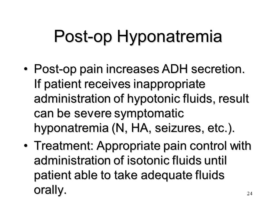 Post-op Hyponatremia